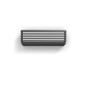 Applique Pitchfork Philips LED intégrée 2x4,5 W gris