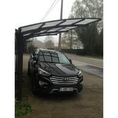 Car-port Free (LxP) 500x250 cm anthracite avec toit opale