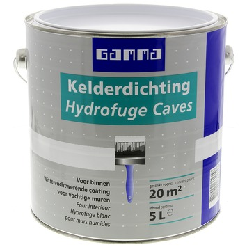 GAMMA muurverf kelderdichting wit 5 l