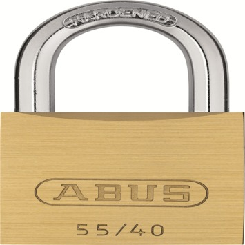 Abus hangslot 55/40 quads messing