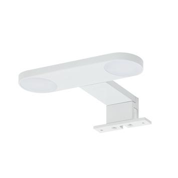 Éclairage pour miroir de salle de bains Yaro alu blanc 17cm 4000K