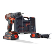 Black+Decker accuboorkit 18V BDC718AS2O-QW incl. 80 accessoires