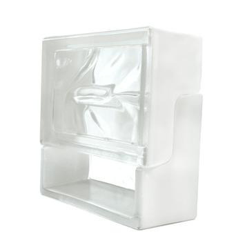 Brique de verre ventilation 19x19x8 cm blanc