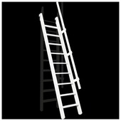 Escalier de meunier Pivot MSP-W 55x300 cm blanc