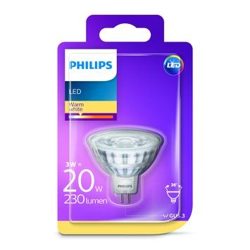 Ampoule LED à réflecteur Philips GU5.3 3 W = 20 W blanc chaud