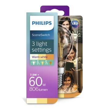 Philips LED classic peerlamp E27 7,5 W = 60 W warm wit helder