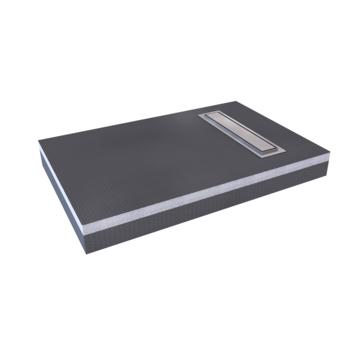 Aurlane douchebak verhoogd 120x80 cm zwart