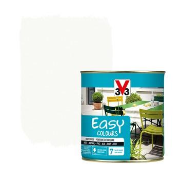 V33 Easy Colours buitenverf zijdeglans wit 0,5 L
