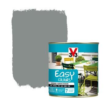 V33 Easy Colours buitenverf zijdeglans steengrijs 0,5 L