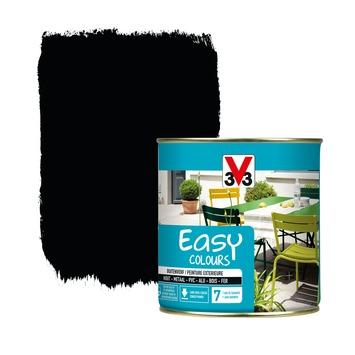 V33 Easy Colours buitenverf zijdeglans zwart 0,5 L