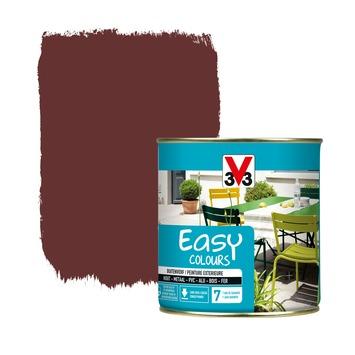 V33 Easy Colours buitenverf zijdeglans baskisch rood 0,5 L