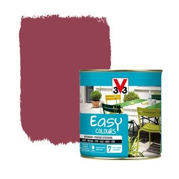 Peinture pour l'extérieur V33 Easy Colours  hibiscus satin 500 ml