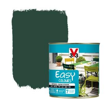 V33 Easy Colours buitenverf zijdeglans baskisch groen 0,5 L