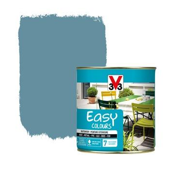 Peinture pour l'extérieur V33 Easy Colours bleu fjord satin 500 ml