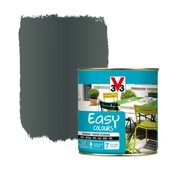 V33 Easy Colours buitenverf metaal antraciet 0,5 L