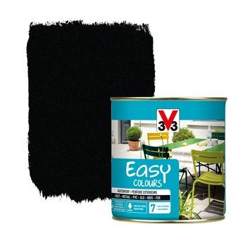 V33 Easy Colours buitenverf poeder zwart 0,5 L