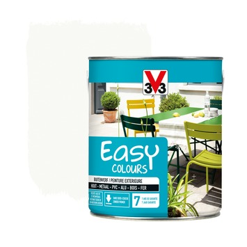 V33 Easy Colours buitenverf zijdeglans wit 2,5 L