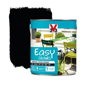 V33 Easy Colours buitenverf zijdeglans zwart 2,5 L