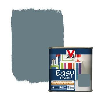 V33 Easy Fashion dekkende vernis zijdeglans onweer blauw 0,5 L