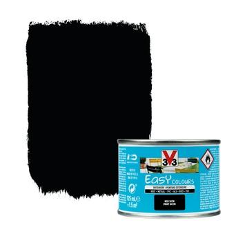 Peinture pour l'extérieur V33 Easy Colours noir satin 125 ml