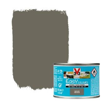 V33 Easy Colours buitenverf zijdeglans taupe 0,125 L