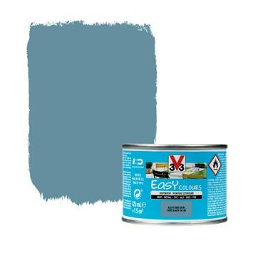 Peinture pour l'extérieur V33 Easy Colours bleu fjord satin 125 ml