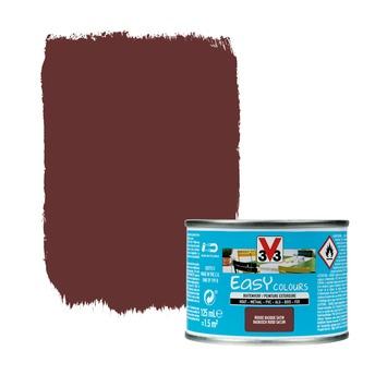 Peinture pour l'extérieur V33 Easy Colours rouge basque satin 125 ml