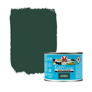V33 Easy Colours buitenverf zijdeglans baskisch groen 0,125 L