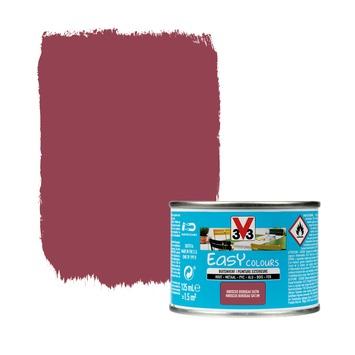 V33 Easy Colours buitenverf zijdeglans hibiscus 0,125 L