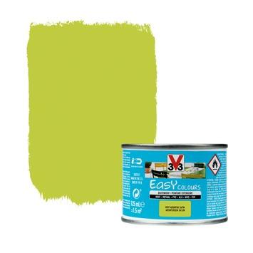 V33 Easy Colours buitenverf zijdeglans absint 0,125 L