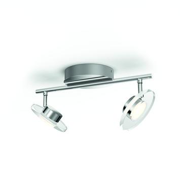 Philips duobalk Glissette met geïntegreerde LED 2x 4,5 W chroom