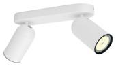 Philips duobalk Pongee 2x GU10 exclusief lampen max. 10 W wit