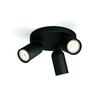 Philips Opbouwspot MyLiving Pongee LED Zwart 3 x 5.5W