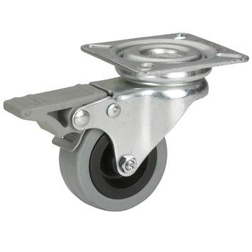 Roulette pivotante avec plateau et frein 35 kg
