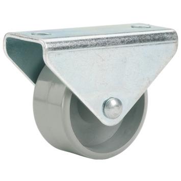 Roulette à chape avec plateau 25 mm 40 kg
