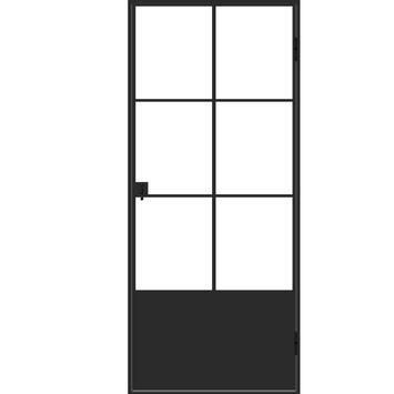 Binnendeur Met Glas Gamma.Solid Stalen Deur Met 6 Glasverdelingen 88x204 Cm Links