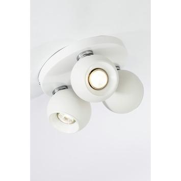 Plafonnier rond orientable White ball Brilliant 3x GU10 ampoules non fournies max. 3 W blanc