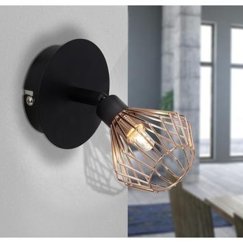 Applique orientable Dalma Briljant G9 ampoule non fournie max. 33 W noir/cuivre