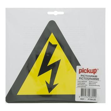 Pickup pictogram elektrische spanning 20x20 cm