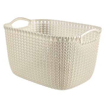 Panier de rangement Knit Curver 19 L blanc