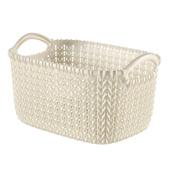 Panier de rangement Knit Curver 3 L blanc
