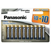 Panasonic batterij everyday power AA 20 stuks