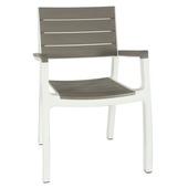 Chaise Harmony Keter blanc/cappuccino 59x60x86 cm