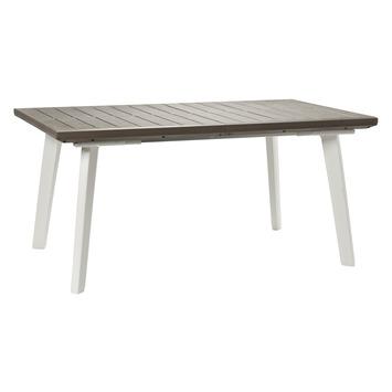 Keter tafel Harmony uitschuifbaar wit/cappuccino 162/240x100 cm