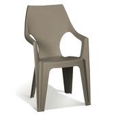 Chaise à dossier haut Dante Allibert cappuccino