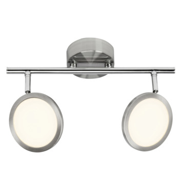 Plafonnier orientable Pluto Brilliant LED intégrée 2x 5 W chrome mat
