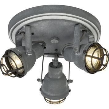 Spot à appliquer rond orientable Bente Brilliant 3x GU10 4 W gris béton