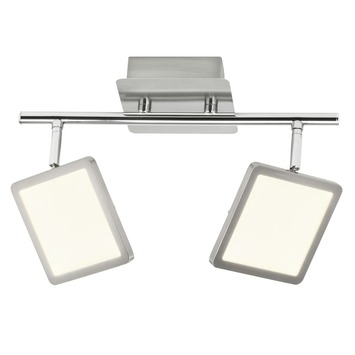Plafonnier orientable Uranus Brilliant LED intégrée 2x 5 W chrome mat