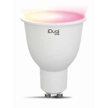 iDual One LED reflectorlamp GU10 5 W = 25 W 330 Lm inclusief afstandsbediening