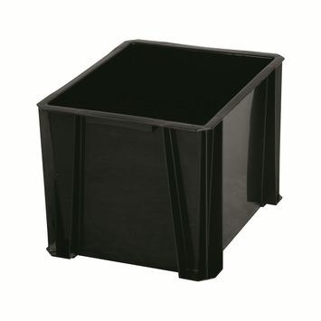 Stapelbak opbergbox 16 liter zwart